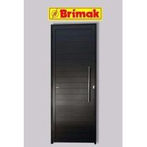 Porta Lambril Preta Acetinada 2,10 X 0,80 C/ Puxador