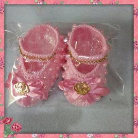 Sapatinho De Croche Princesa Com Tiara Rosa Promoçao