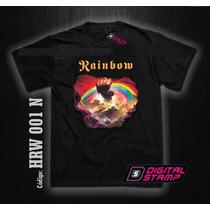 Remera Rainbow Heavy Metal 1 Estampado Digital Stamp Dtg
