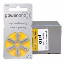 6 Pilhas Bateria P10 Pr70 Aparelho Auditivo - Power One