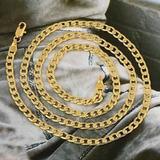 Cadena Cuello Chapada En Oro Para Hombre