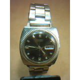 Reloj Seiko Automático 21 Jewels Calendario Malla De Acero