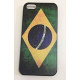 Capa Case Celular Apple Iphone 4 Ou 4s - Bandeira Do Brasil