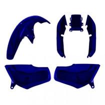 Kit Plástico Carenagem P/ Titan Cg 125 Ano 1996 1997 - Azul