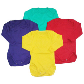 Bodys Manga Larga Pack X 12 Unid. 100% Cotton Pure
