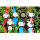 Reloj Dama Pulsera Colores Variados Mujer Tipo Mulc