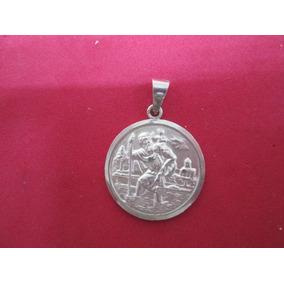 Medalla San Cristobal Y Otras En Plata Fina .925.