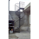 Escalera Caracol Hasta 260cm Altura Escalones 50cm Chapa 18