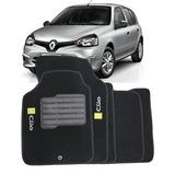 Tapete Carpete Preto Renault Clio 2000 A 2012 - 5 Peças