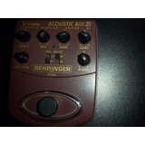 Pedal De Guitarra Electroacústica Behringer Acuostic -di 21