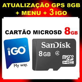 Atualizo Gps - Cartão Memória 4gb Ou 8gb Pronto Frete Grátis