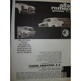 Clipping Publicidad Auto Automoviles Alfa Romeo Giulietta