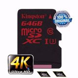 Cartão Micro Sd Sdxc Kingston 64gb C10 90mb/s Uhs-3 Ori Me01