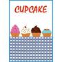 Placa Cupcake Bolo Decoração Retro P/ Cozinha Copa Gourmet