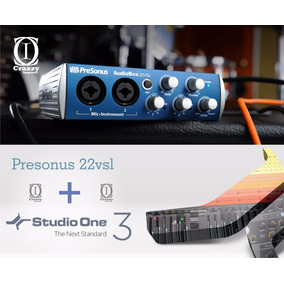 Presonus Audiobox 22vsl Interface + Studio One 2