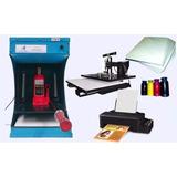 Fábrica Máquina De Chinelo + Prensa Térmica + Impressora 7x1