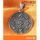 Dije De Calendario Azteca En Plata Ley .925