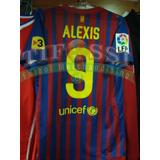 Camiseta Barcelona Alexis, Oficial De Plantel, Tiendatifossi