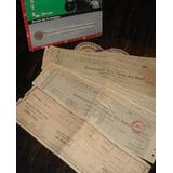 Antiguos 12 Documentos Impuesto Ciudad Eva Perón 1950 (4893)