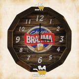 Relogio De Parede Tampa De Barril Cerveja Chopp Brahma Retro