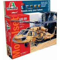 Italeri Helicoptero Uh-60 Desert Hawk 1/72 Armar C/ Todo !