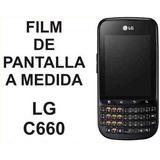 Film Protector De Pantalla A Medida Lg C660 Optimus Pro -nnv
