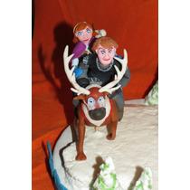 Frozen Elsa Anna Olaf Porcelana Fria Disney Torta Adorno