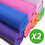 X2 Colchonetas Mats Yoga Pilates Gim 173cm X61cm X5 Mm Bolso