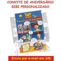 Arte Convite Gibi Aniversário - Toy Story
