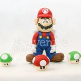 Adorno De Torta Super Mario Bros Porcelana Cordoba