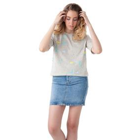 Blusas Dama Espaciada Gris Columpio