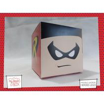 Souvenir Evento Cumple Caja J1 Lego Heroes Robin Batman Dc