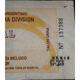 Entrada Boca 0 San Lorenzo 1 Final Liguilla Libertadores 91