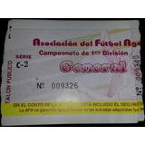 Entrada Boca 1 Independiente 1 Torneo Clausura 1994