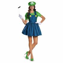 Disfraz De Luigi Mario Bros Para Damas Envio Gratis