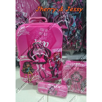 Kit Mochila Infantil De Rodinha Monster High 2016 3d