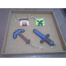 Llaveros Minecraft Hama Beads Midi Envio Gratis!!!