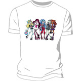 Remera Estampada Monster High Buhos Doctora Juguetes