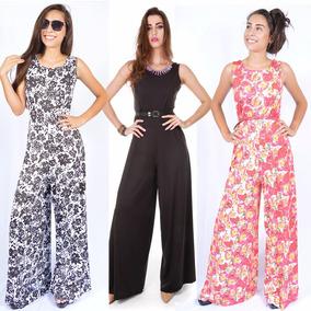 6f2e6f446 Calça Pantalona Cetim - Macacão para Feminino no Mercado Livre Brasil
