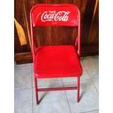 Antigua Silla De Coca-cola Pintura Original...