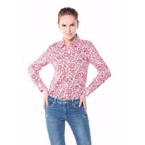 Camisa Estampada Mangas Largas By Vera Benson