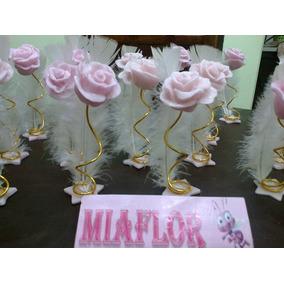 50 Souvenirs Rosa Con Pluma Y 20 Centros De Mesa