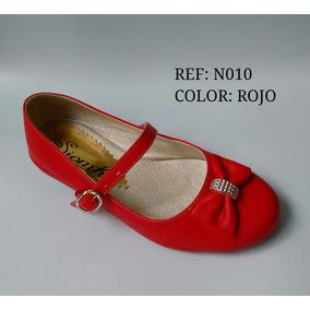 Baleta Roja Calzado Niña Zapatos Infantil Envío Gratis