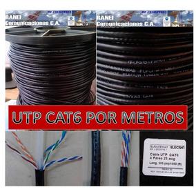 Cable Utp Cat6 Cat 6 100% Cobre 4 Pares X Metro Exterior