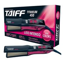 Chapa Prancha Taiff Titanium 450 Pink Bivolt Legítima