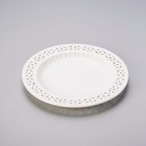 Jogo 6 Pratos Sobremesa Rendado Porcelana Bon Gourmet R 3763