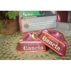 Antiguos Ceniceros Gancia Rojo (6784)