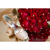 Sandália Sapato De Noiva Casamento Branco Com Renda