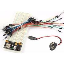 Kit Protoboard 830 + Regulador Tensão + 65 Jumpers + P4 9v