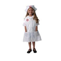 Disfraz Para Niña Enfermera Modo De White Dress-up Set, Tam